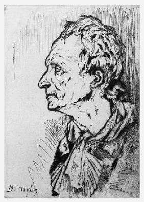 Portrait of Diderot, illustration for Rameaus Nephew, by Denis Diderot