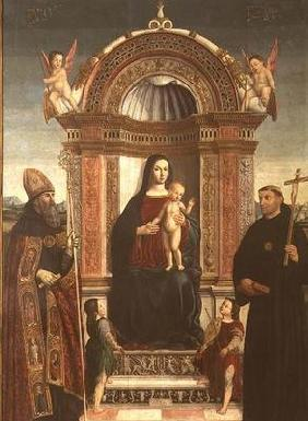 Madonna and Child with St. Nicholas of Tolentino and St. Augustine
