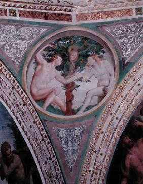 Original Sin, from the pendentive of the dome