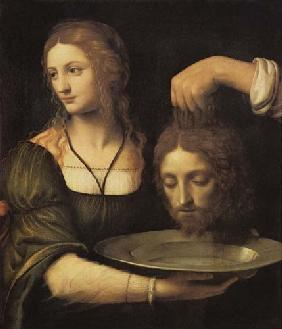 Salome receives the head of Johannes of the Täufers.