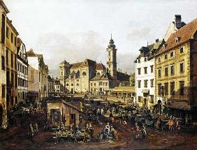 Bellotto, Bernardo : The Freyung in Vienna, vie...