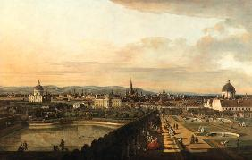 Bellotto, Bernardo : View of Vienna from Belved...