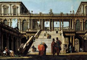 Ideal Landscape with Palace Steps