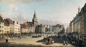The old Market place in Dresden