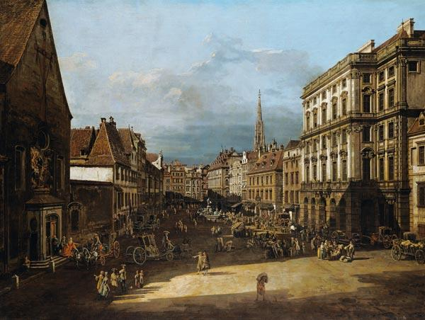 Bellotto, Bernardo : The flour market in Vienna