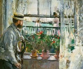 Eugene Manet on the island of Wight.