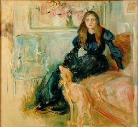 Julie Manet (1878-1966) and her Greyhound Laerte