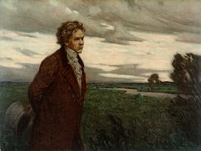 Beethoven on a Walk , Oil Print