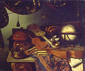 Bettera, Bonaventura : Still life with music inst...