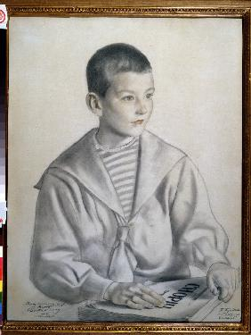 Portrait of the composer Dmitry Shostakovitch (1906-1975) as child