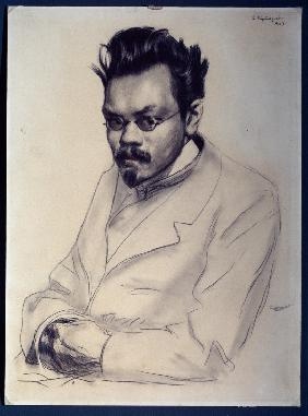 Portrait of the author Alexei M. Remizov (1877-1957)