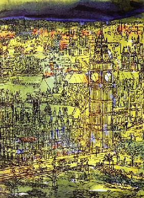 Westminster (w/c and mixed media on paper)