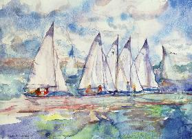 Blue Sailboats, 1989 (w/c on paper)