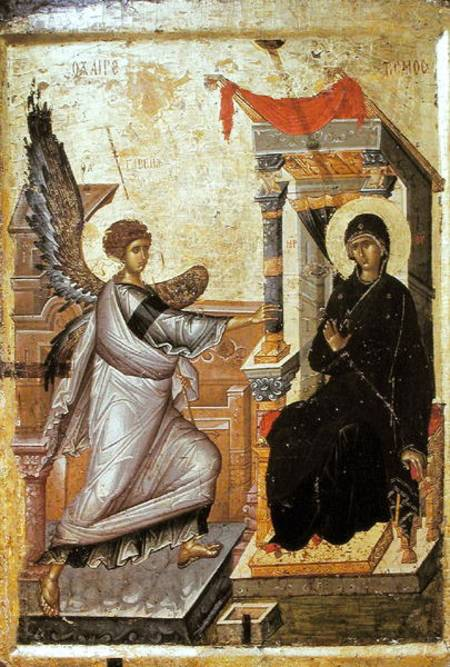 The Annunciation Byzantine As Art Print Or Hand Painted Oil