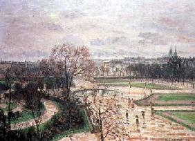 The Garden of the Tuileries in Rainy Weather