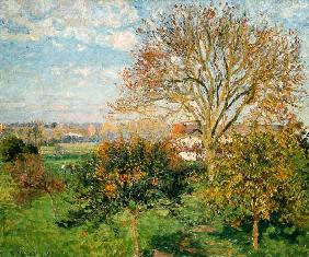 Pissarro, Camille : Autumn morning in Eragny.