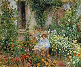 Mother and Child in the Flowers