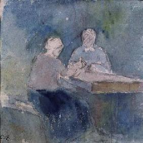 Two Peasants at the Table
