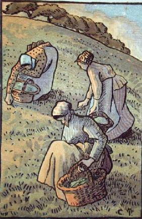 Women Gathering Mushrooms, from 'Travaux des Champs'