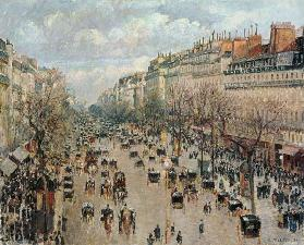 The boulevard Montmartre in Paris.