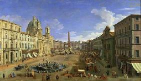 Canal (Canaletto), Giovanni Antonio : View of the Piazza Navona,...