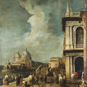 Look at the Canale grandee and Sta.Maria della salutes of the Piazetta in Venice