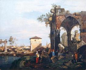 Capriccio with Ruins and Porta Portello in Padua, c.1760 (oil on canvas)