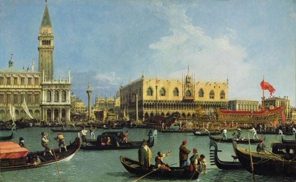 Canal (Canaletto), Giovanni Antonio : Return of the Buccintoro, ...