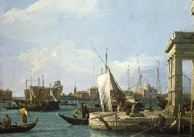 Canal (Canaletto), Giovanni Antonio : The Dogana in Venice