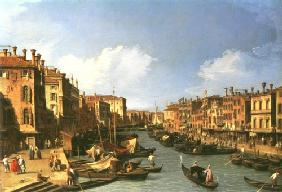 Grand Canal: looking South west from The Rialto bridge to The Palazzo Fosari