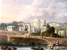 The British Residency at Hyderabad in 1813, from Volume II of 'Scenery, Costumes and Architecture of