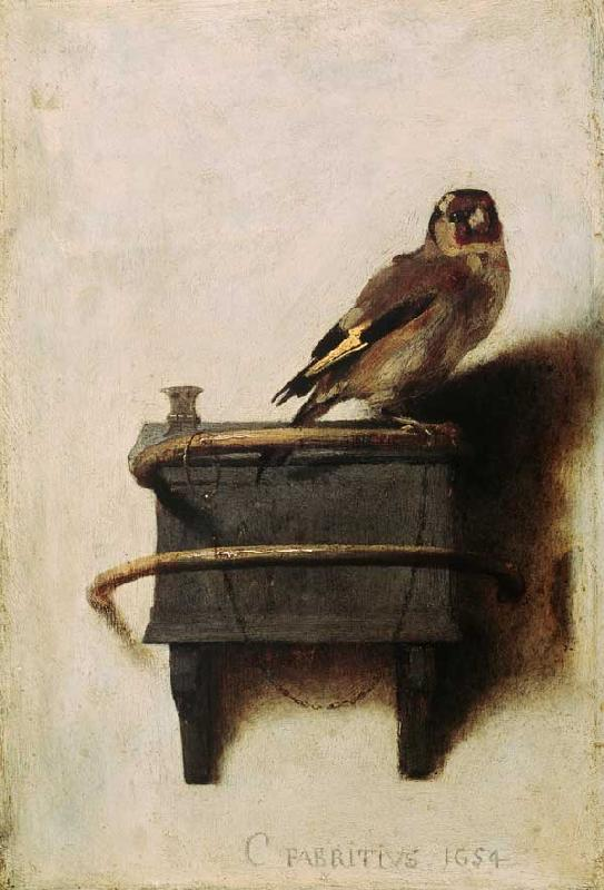 C.Fabritius, The goldfish / 1654 1654