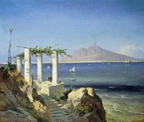 Sorensen, Carl Frederick : Look from Capri over the b...