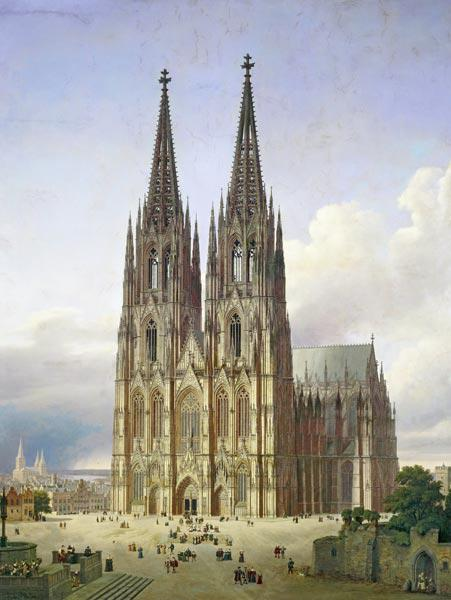 Ideal View of the Cologne Cathedral
