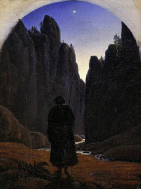 Carus, Carl Gustav : Pilgrim in a Rocky Valley