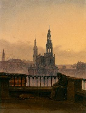 Carus, Carl Gustav : Look at Dresden with cresc...