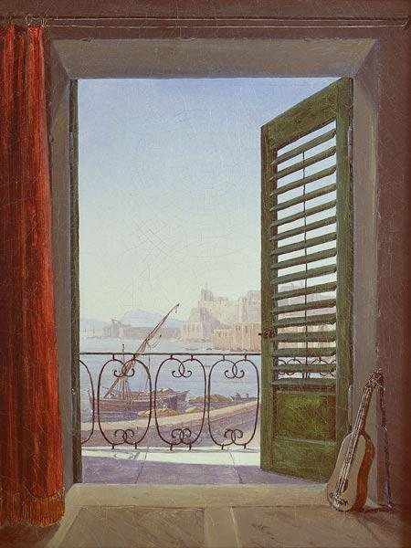 Carus, Carl Gustav : Balcony Room with a View o...