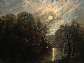 River Landscape in the Rosental near Leipzig