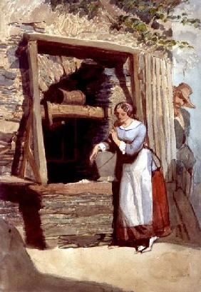 Study of a Lady by a Well, with her Admirer Looking On