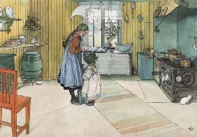 Larsson, Carl : In the kitchen