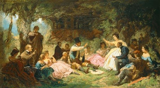 CARL SPITZWEG Das_picknick-1