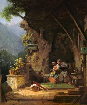 Hermit in Love / C.Spitzweg