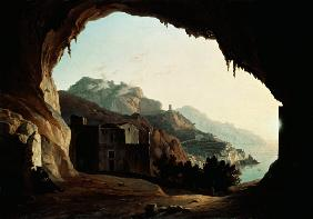 Grotto near Amalfi, c.1828 (oil on canvas)