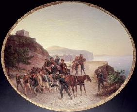 The Capture of Guido Edmondo, c.1864 (oil on canvas on wood)
