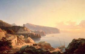 The Gulf of Sorrento, near Vico, c.1855 (oil on canvas)