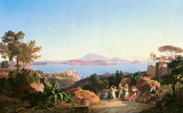View of the Gulf of Pozzuoli with Mount Solfatara, c.1830 (oil on canvas)