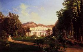 Villa Pignatella, Riviera di Chiaia, Naples, c.1845 (oil on canvas)