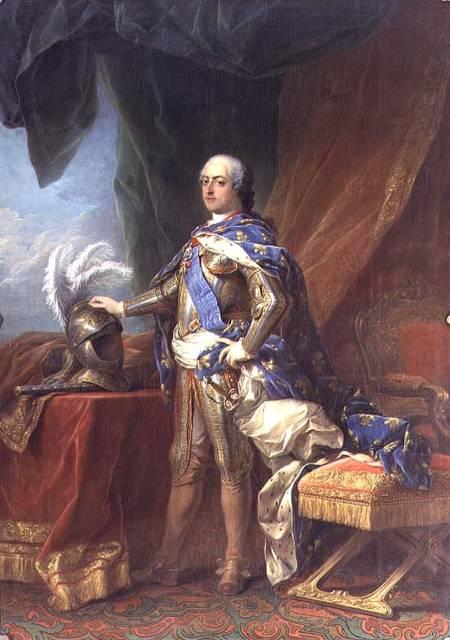 Oil Change Prices >> Louis XV (1715-74) King of France & Nava - Carle van Loo as art print or hand painted oil.