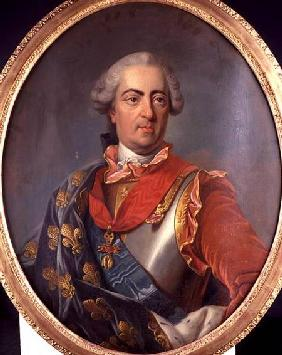 Portrait of King Louis XV (1710-74) of France, wearing the Order of the Golden Fleece