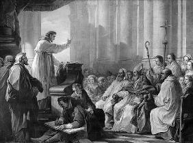St. Augustine preaching before Valere, Bishop of Hippo